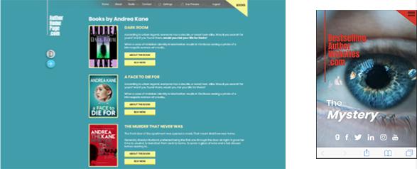 Author Home page screenshots