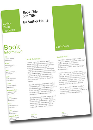 Printer Quality Book Sell Sheet can help a self publisher provide a potential retailer understand your book
